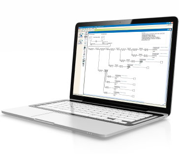 A laptop showing early planning of an HVAC installation